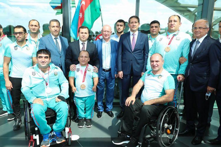 """""""Tokio-2020"""" Paralimpiya Oyunlarında iştirak edən idmançılarımızdan  sonuncu qrupu Vətənə qayıdıb"""