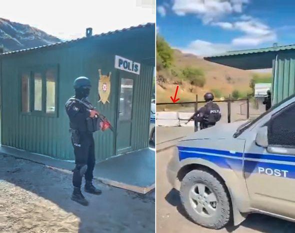 Azərbaycan polisi Gorus-Qafan yolunda -  VİDEO