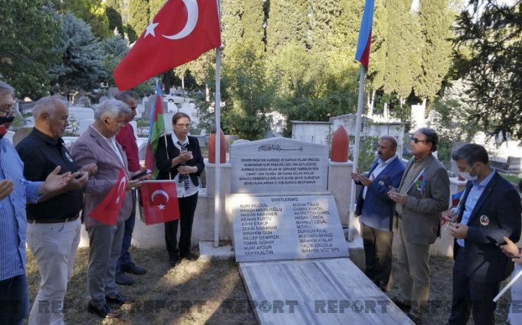 İstanbulda Nuru Paşanın məzarı ziyarət olunub - FOTO