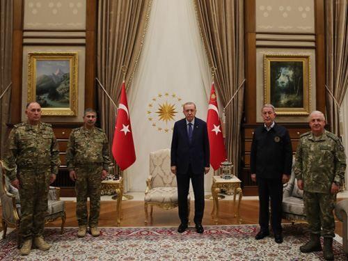Türkiyə Prezidenti Zakir Həsənovu və Kərim Vəliyevi qəbul edib