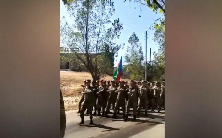 Şuşada hərbi yürüş keçirilib - VİDEO