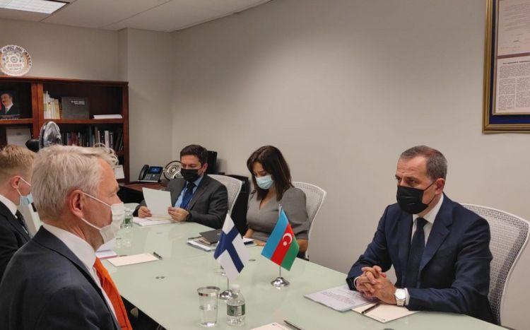 Azərbaycan və Finlandiya XİN başçıları görüşüb