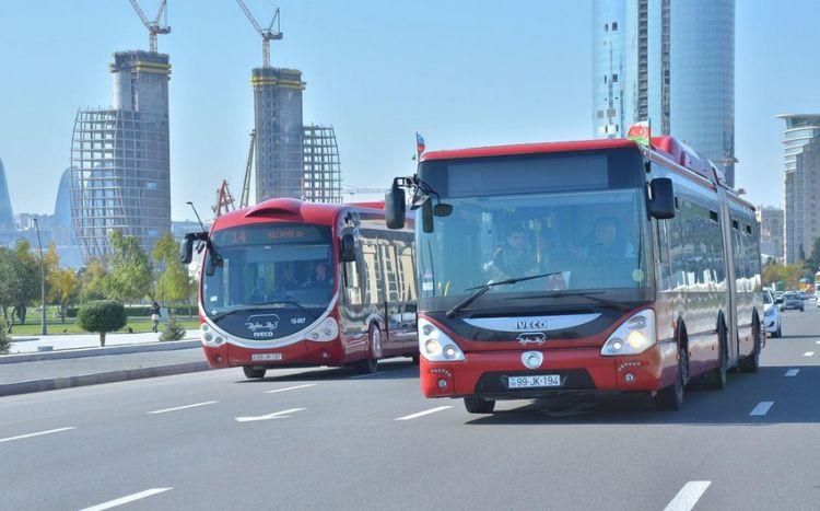 Bakıda avtobusların hərəkət sxemi müvəqqəti dəyişdirilir