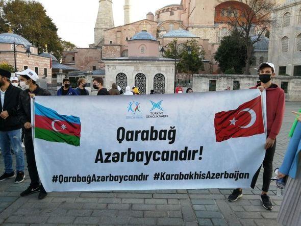 İstanbulda Vətən müharibəsi şəhidlərinin anım mərasimi keçirilib –  FOTO
