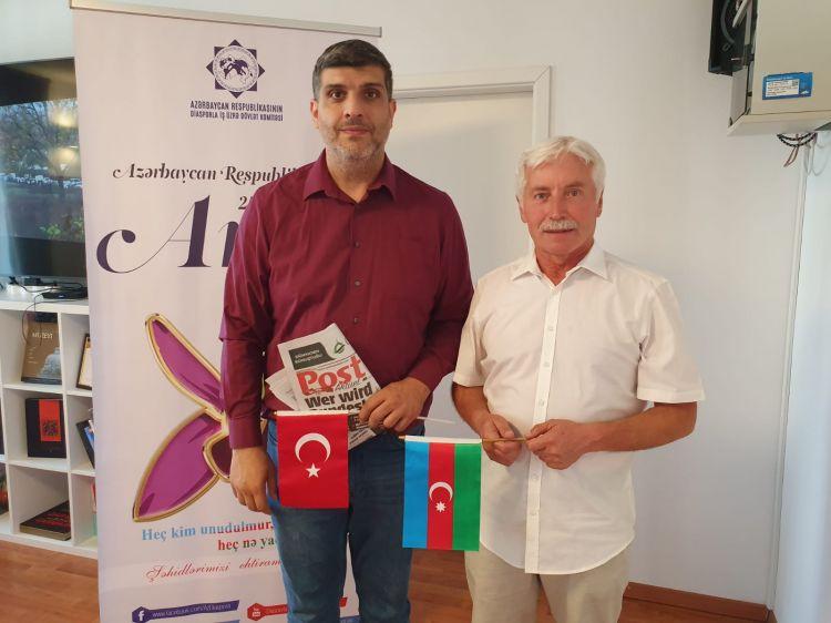 Münhendəki Azərbaycan Evində şəhidlərimiz yad edilib -  FOTO