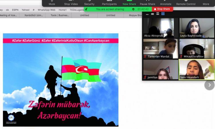 """İsveçrədəki """"Qarabağ"""" məktəbində Anım Gününə həsr edilmiş dərs keçirilib"""