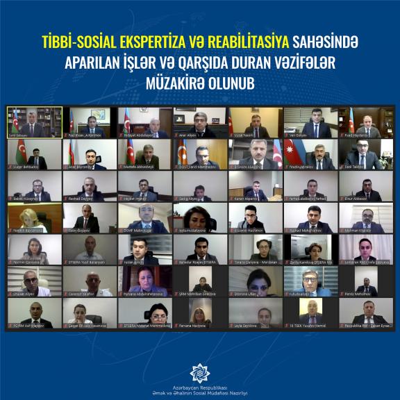 Tibbi-sosial ekspertiza və reabilitasiya sahəsində aparılan işlər müzakirə olunub