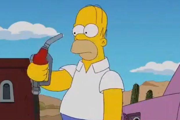 """""""Simpsons"""" serialı 11 il əvvəl Birləşmiş Krallıqda yanacaq böhranını xəbər verib? -  VİDEO"""