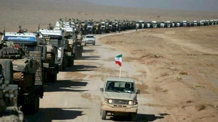 Güneylilər təlimə gedən İran tanklarına etiraz etdi -  VİDEO