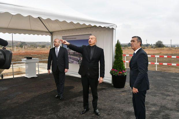 Prezident Cəbrayılda yeni məktəbin təməlini qoydu -  FOTO