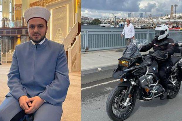 Türkiyədə motosikletli imam marağa səbəb olub -  FOTO