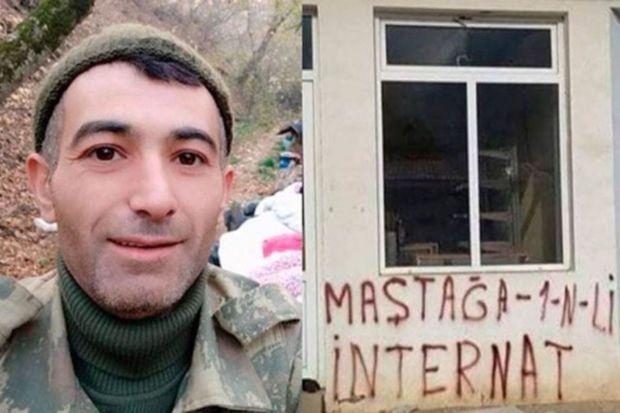 """Qarabağda tikiliyə """"Maştağa 1 N-li internat"""" yazan Elçin Əhmədov tələbə adını qazandı"""