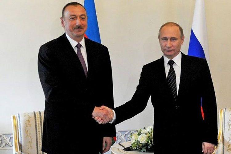 İlham Əliyev və Vladimir Putin bölgədəki vəziyyəti müzakirə etdi
