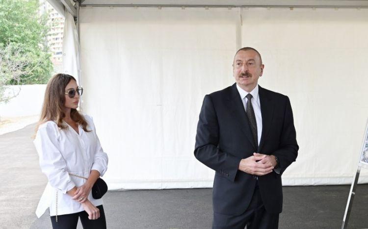 İlham Əliyev və Mehriban Əliyeva Bakı Zooloji Parkın açılışında -  Yenilənib