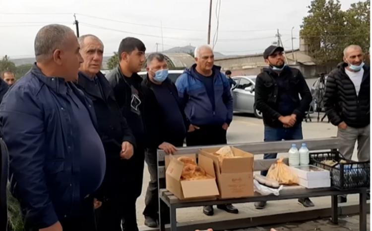 Gürcüstan azərbaycanlıları Mixeil Saakaşviliyə qeyri-adi dəstək aksiyası keçiriblər