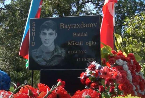Şəhid Batdal Bayraqdarovun xatirəsi anılıb -  VİDEO