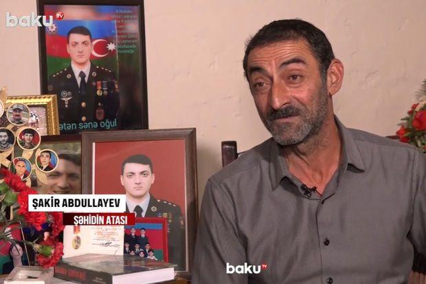 Şəhid oğluna qurban kəsən ata -  VİDEO