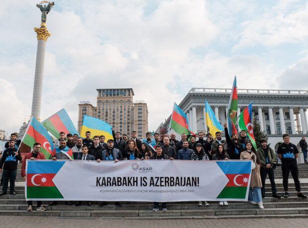 Kiyevdə Vətən müharibəsi ilə bağlı məlumatlandırıcı aksiya təşkil edilib -  FOTO