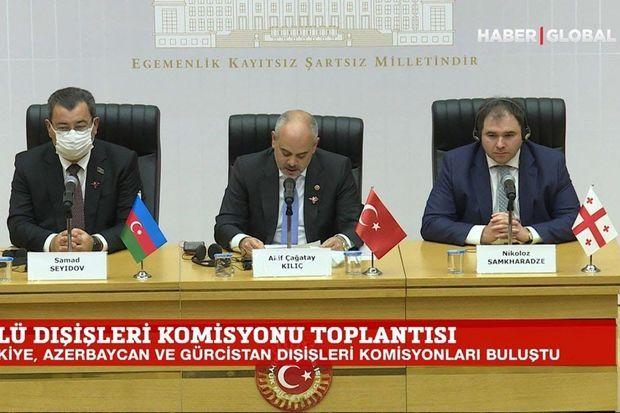Türkiyə, Azərbaycan və Gürcüstan parlamentlərarası komissiyasının növbəti iclası keçirilib -  VİDEO