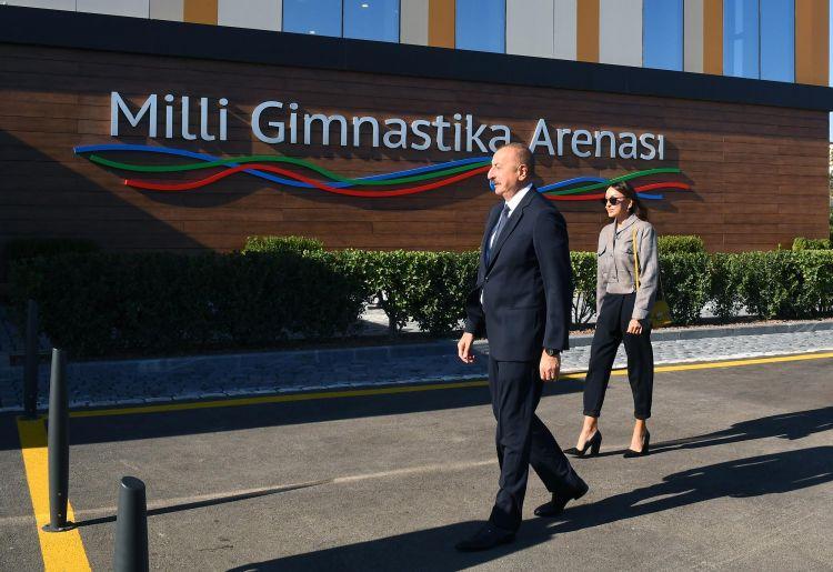 Prezident Milli Gimnastika Arenasının yeni məşq binasında -  Yenilənib