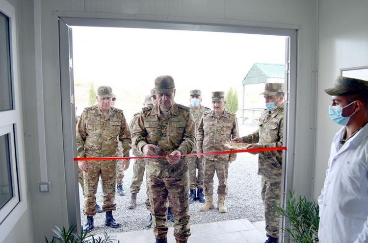 Azad olunan rayonlarda yeni hərbi obyektlər açıldı -  FOTO