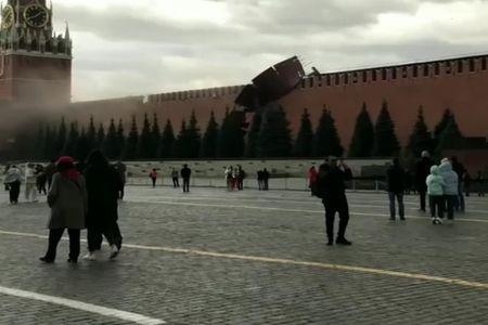 Qasırğa Kremlin divarına ziyan vurub - VİDEO