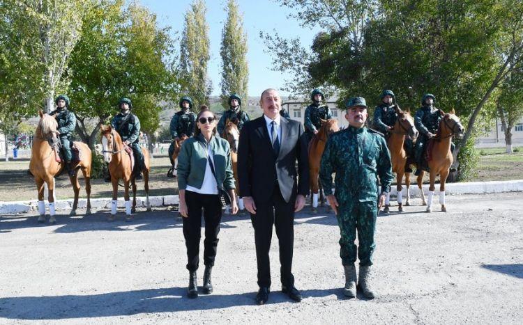 Prezident Qubadlıda DSX-nin yeni hərbi hissəsinin açılışında  -  Yenilənib - FOTO