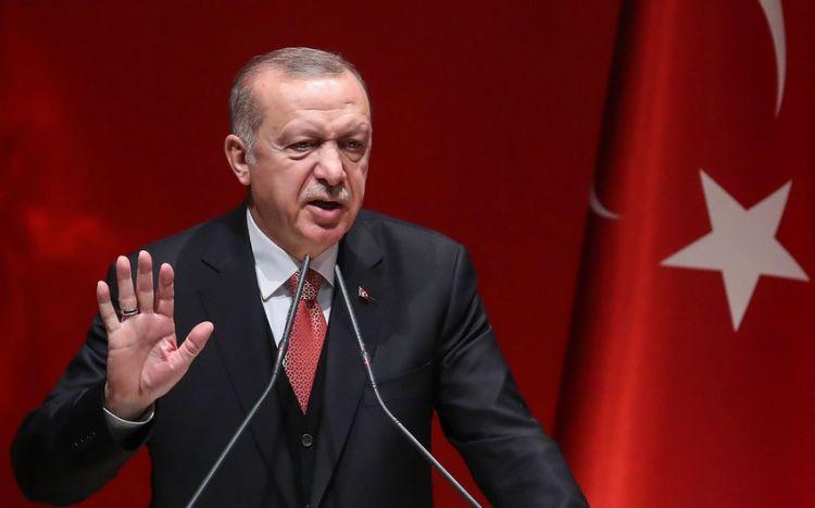 """Türkiyə Prezidenti:  """"Mənim kitabımda geri addım atmaq yoxdur"""""""